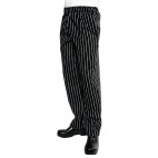 A940-S Easyfit Pants - Black and White Striped