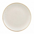 Churchill Stonecast Round Coupe Plates Barley White 200mm
