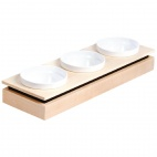 GC915 Frames Maple Wood Rectangular Small Bowl Base
