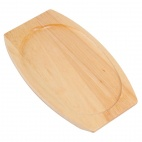 Light Wooden Base for Sizzle Platter