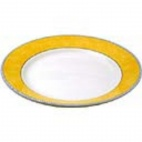 Churchill New Horizons Marble Border Mediterranean Dishes Yellow 252mm