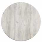 Werzalit Square Table Top Ponderosa White 600mm
