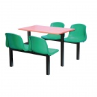 Four Seater Side Access Canteen Unit Beech and Green