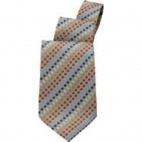 Earth and Orange Tone Polka Dot Tie