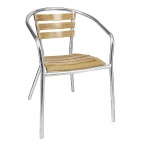 U421 Aluminium and Ash Chair (Pack of 4)