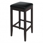 GG648 Faux Leather High Bar Stools Black (Pack of 2)