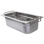 CB187 Stainless Steel 1/3 Gastronorm Pan With Handles 100mm