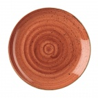 Churchill Stonecast Round Coupe Plates Spiced Orange 295mm