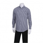 Mens Dress Shirt Dark Navy Gingham L