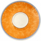 Churchill New Horizons Marble Border Cappuccino Saucers Orange 170mm