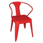 DL873 Red Steel Bistro Armchair (Pack of 4)