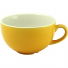 Churchill New Horizons Colour Glaze Cappuccino Cups Yellow 199ml