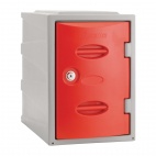 Plastic Single Door Camlock Locker Red 450mm