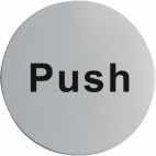 U063 Stainless Steel Door Sign - Push