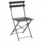 Black Pavement Style Steel Chairs (Pack of 2)