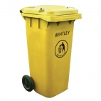 Yellow Wheelie Bin 120Ltr