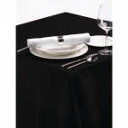CE699-BK Palmar Polyester Black Tablecloth