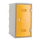 Plastic Single Door Locker Camlock Yellow 600mm