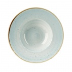 Churchill Stonecast Round Wide Rim Bowls Duck Egg Blue 240mm