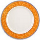Churchill New Horizons Marble Border Classic Plates Orange 280mm
