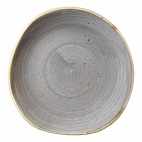 Churchill Stonecast Round Plates Peppercorn Grey 186mm