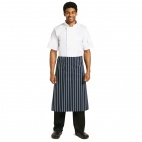A647 Butchers Waist Apron - Blue and White Stripe