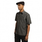 Detroit Black Denim Short Sleeve Shirt L