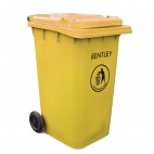 Yellow Wheelie Bin 240Ltr