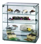 GC46D Glass Display Case With Rear Sliding Doors