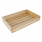 Low Sided Wooden Crate