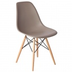 GG917 Coffee Polypropylene Chairs Wooden Legs (Pack of 2)