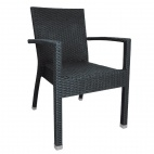 DL477 Wicker Armchair Charcoal (Pack of 4)