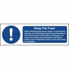 W198 Deep Fat Fryer Safety Sign