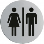 U058 Stainless Steel Door Sign - Ladies & Gentlemen