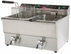PFT82 2 x 8 Ltr Double Basket Fryer with Tap
