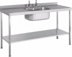 SINK1270SBDD 1200mm Single Bowl Sink With Double Drainer
