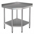 Stainless Steel Corner Table 900 x 800 x 700mm