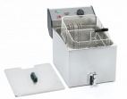 FD 80R 8 Ltr Single Tank Counter Top Fryer with Drain Tap