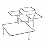 GF079 Float Chrome 4 Bowl Stand