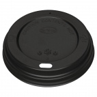 Black Lid for Coffee Cups 12-16oz 50 Pack