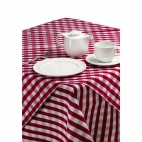 CE464 Palmar Gingham Red & White Slipcloth