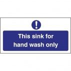 L952 Hand Wash Only Sign
