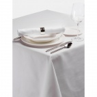 CE696-WH Palmar Polyester White Tablecloth