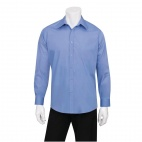 Mens Basic Dress Shirt French Blue L