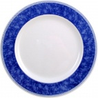 Churchill New Horizons Marble Border Classic Plates Blue 254mm