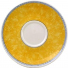 Churchill New Horizons Marble Border Cappuccino Saucers Yellow 170mm