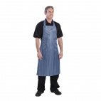 A580 Waterproof Nylon Apron - Blue and White Stripe