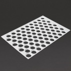 Serrated Cutting Sheet Round 72 Holes 45mm - GT023