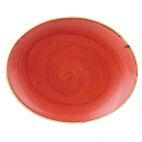 Churchill Stonecast Oval Coupe Plates Berry Red [delete]mm