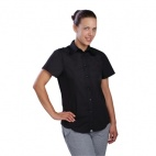 Ladies Cool Vent Chefs Shirt - Black